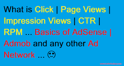 What is CTR, RPM, CPC, Page Views & Impression Views | Basics of Adsense