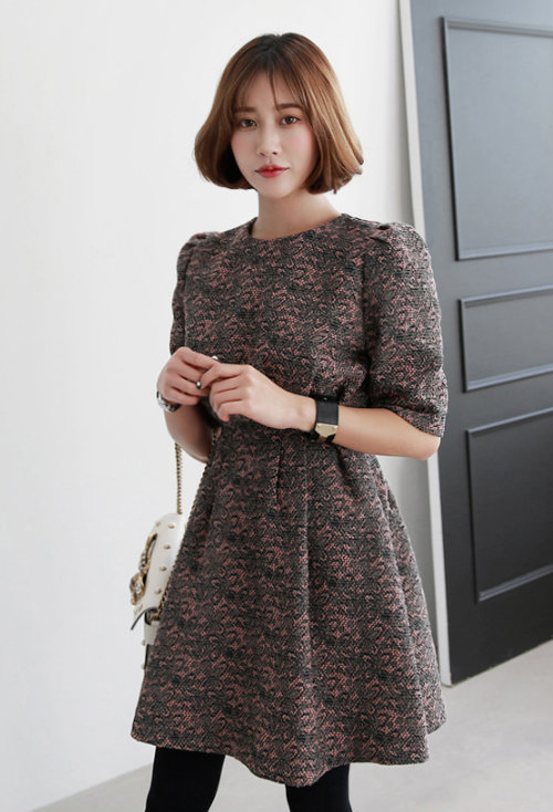Floral Print Flared A-Line Dress