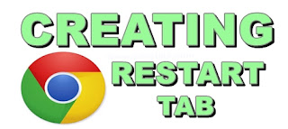 Chrome restart button