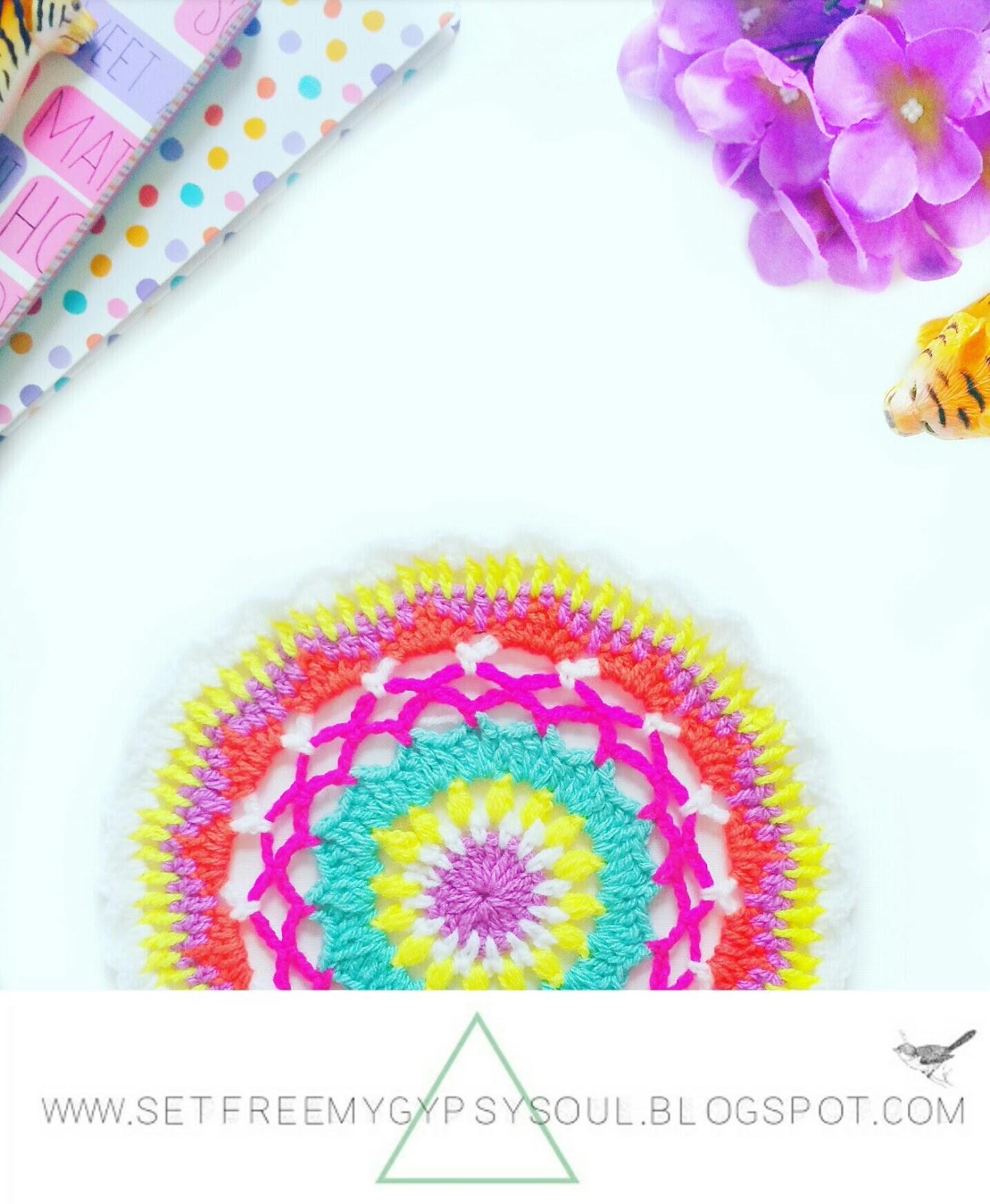 free crochet mandala pattern boho easy
