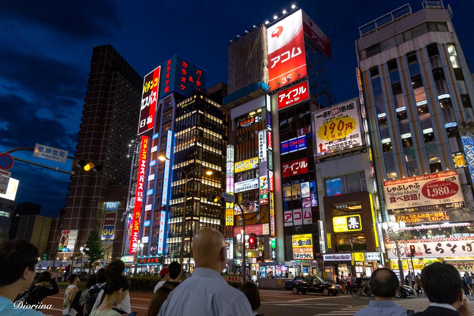 Tokio iltavaloissa