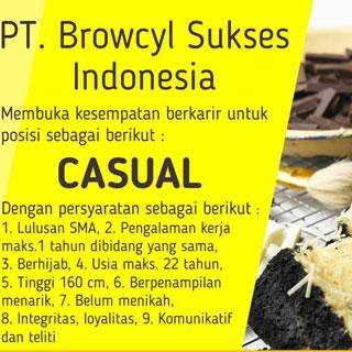 Lowongan Kerja Casual PT Browcyl Sukses Indonesia