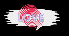 Plaquinha love - criação Blog PNG-Free