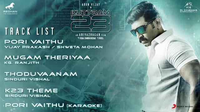 Kuttram 23 Tracklist Audio - Arun Vijay Movie_TAARUS