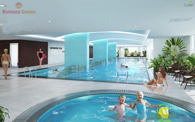 Bể bơi bốn mùa tại dự án chung cư Riverside