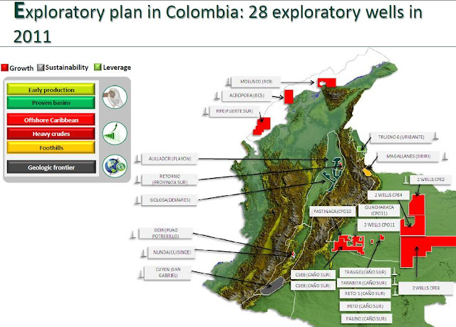 Image Attribute: Colombian New Exploratory Blocks as per 2011 data