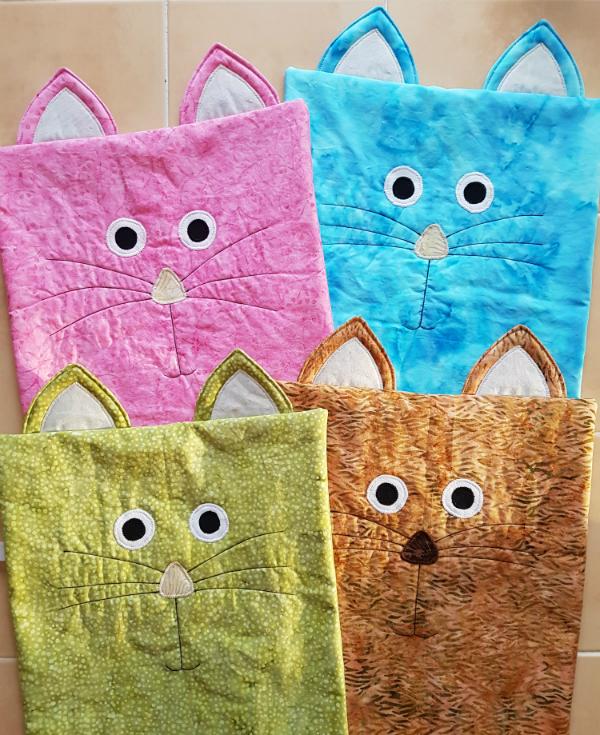 cat pillows   DevotedQuilter.blogspot.com