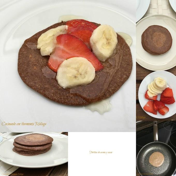 Tortitas de avena y cacao