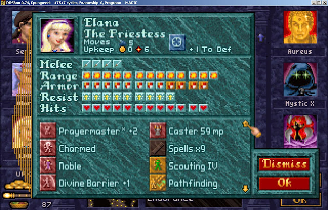 Elana Hero from Master of Magic game screenshot