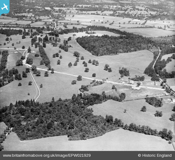 Photograph of Gobions Garden and Gobions Wood, Brookmans Park, from the south-east, 1928