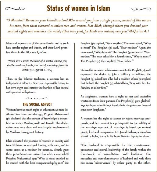 My-Sweet-Islam: Status of Women in Islam
