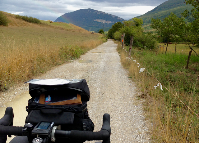 bike touring on gravel roads