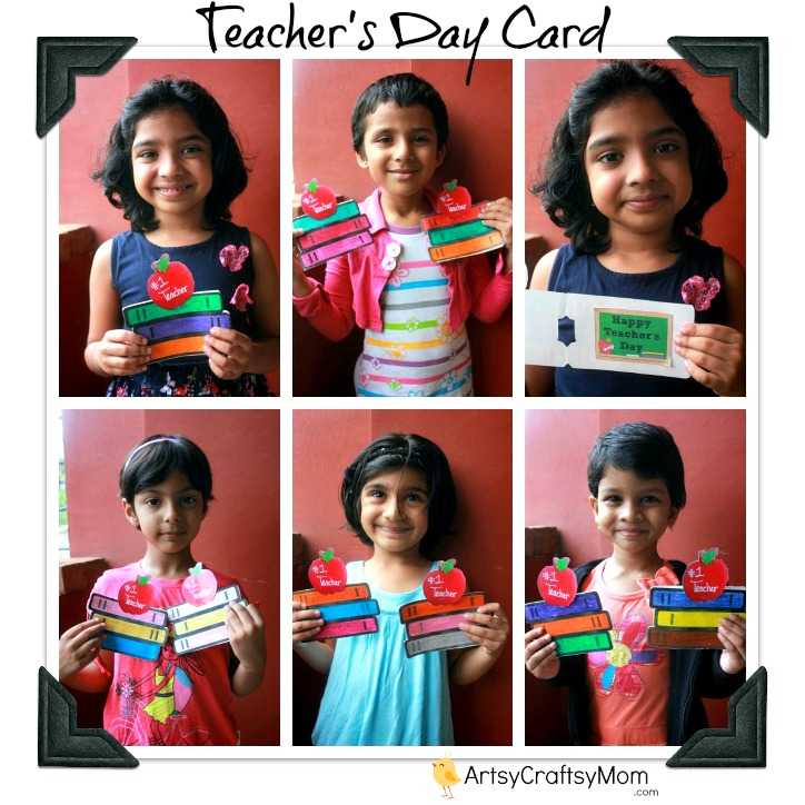 Ideas For Making Greeting Cards For Teachers Day Part - 29: Book Shaped Printable Teacheru0027s Day Card