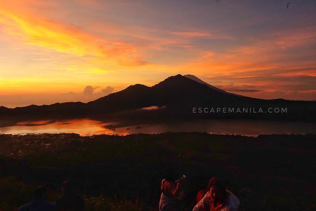 MT. BATUR VOLCANO - one of the top tourist spots in Bali.