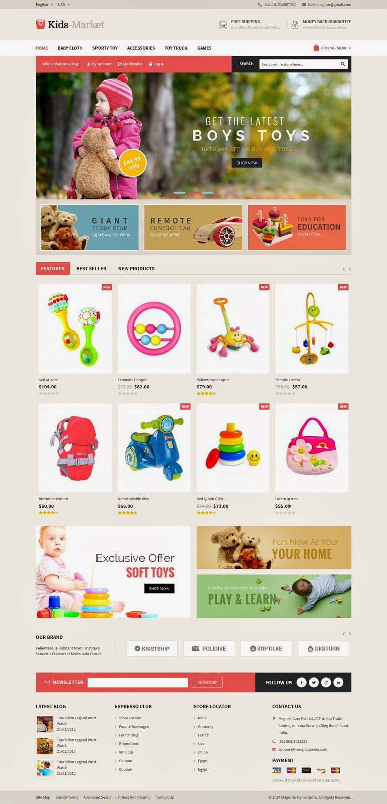 best Kids Store eCommerce Template