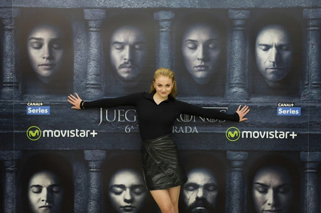 Sophie Turner at Game of Thrones Photocall in Madrid, Spain