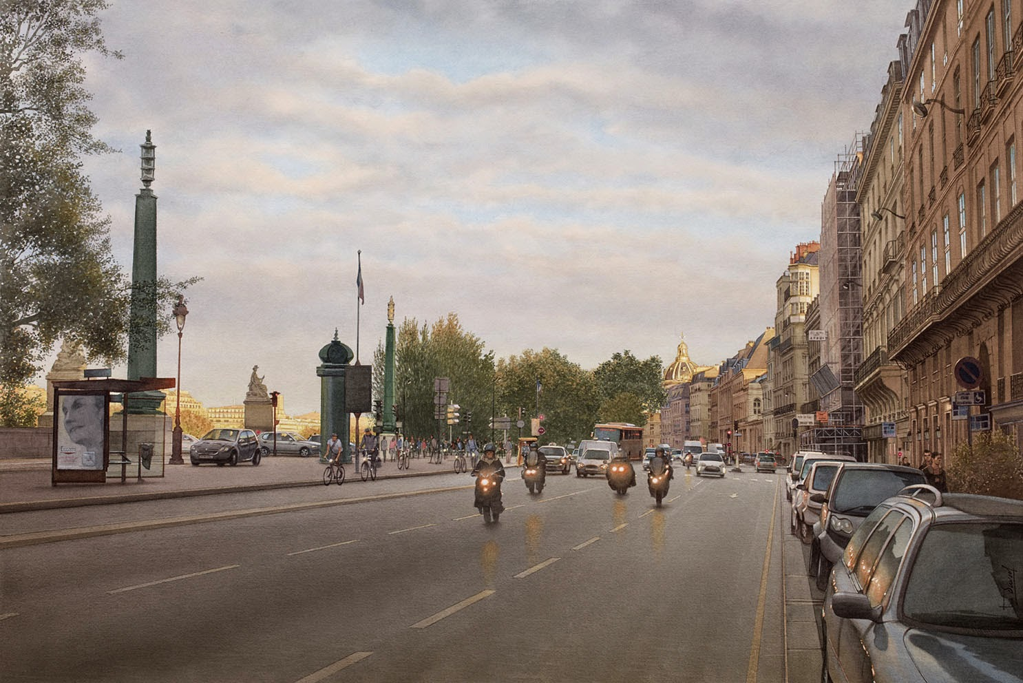 19-le-quai-Voltaire-Thierry-Duval-Snippets-of Real-Life-in Watercolor-Paintings-www-designstack-co