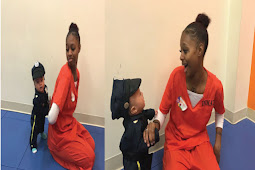 Check out these cute Viral photos of a mother getting arrested by her baby son dressed as police officer on his first Halloween