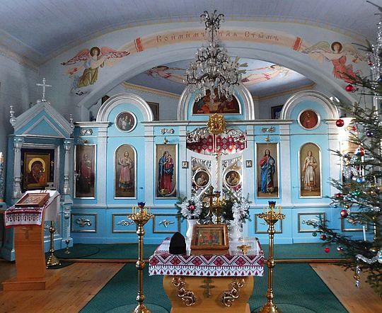 Ikonostas w cerkwi prawosławnej.