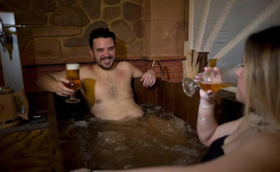 Baño de cerveza en el spa