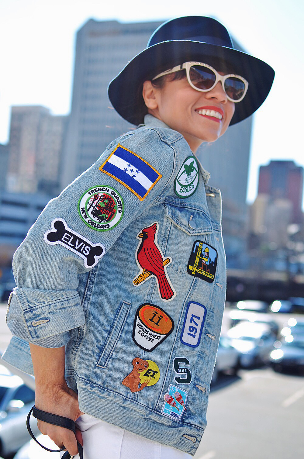 Patches on jacket