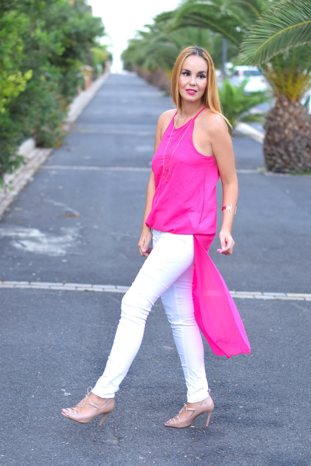 nery hdez, dresslink, primark, pink, blonde, wear to work