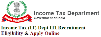 Income Tax (IT) Department ITI Recruitment 2017 Eligibility & Apply Online for Income Tax Inspector Posts
