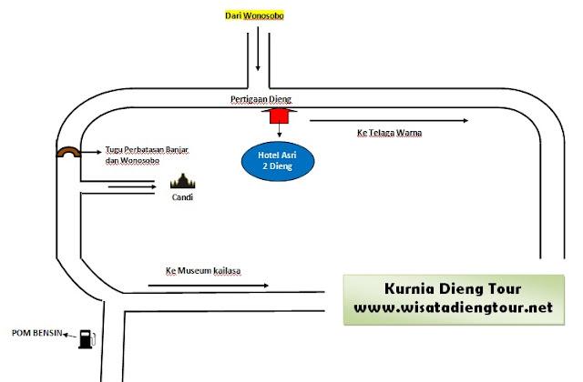 peta lokasi hotel asri 2 dieng