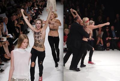 Protesters crash Nina Ricci runway show in Paris Fashion ...