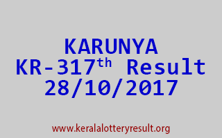 KARUNYA Lottery KR 317 Results 28-10-2017