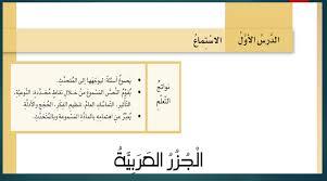 درس الجزر مع الإجابات اللغة العربية