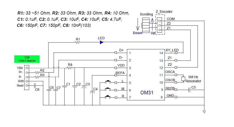 Optical Mouse Diagram