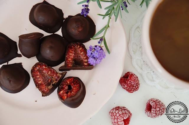 Maliny w czekoladzie