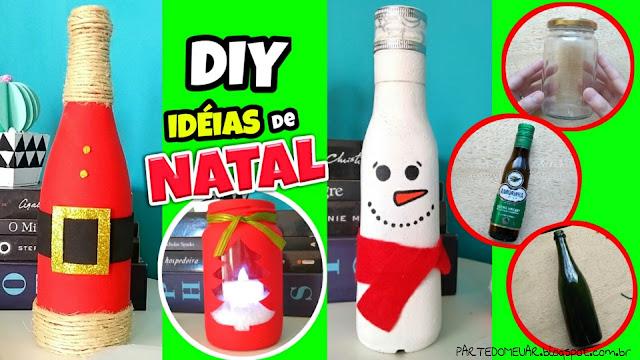 idéias com garrafas