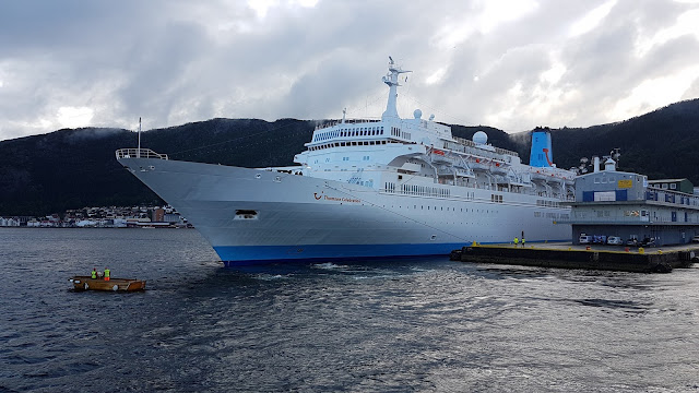 Cruise ship Thomson Celebration in Bergen, Norway; Thomson Cruises