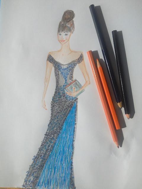 #modnailustracija #fashionillustration #pencildrawing