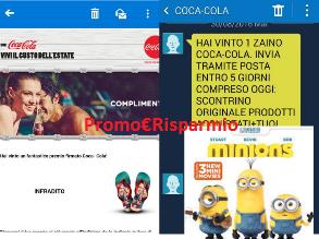 Logo Gioca e vince Zainetto e Flip Flop Coca-Cola e DVD Minions con Maxi Cucciolone