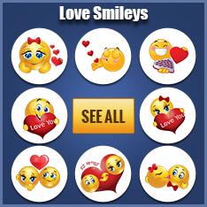 Love smileys for Facebook