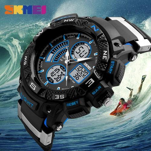 Lolotasblog  Αθλητικό ρολόι χειρός ανδρικό SKMEI 1211 Black Blue ... b57218a3d50