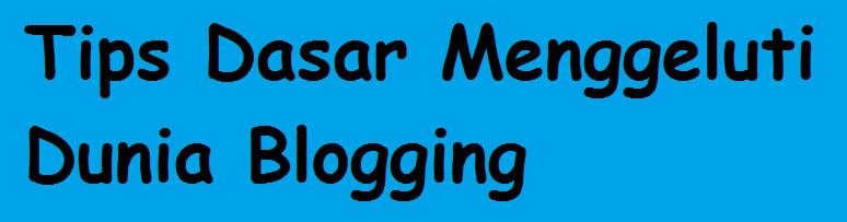 Tips Dasar Menggeluti Dunia Blogging