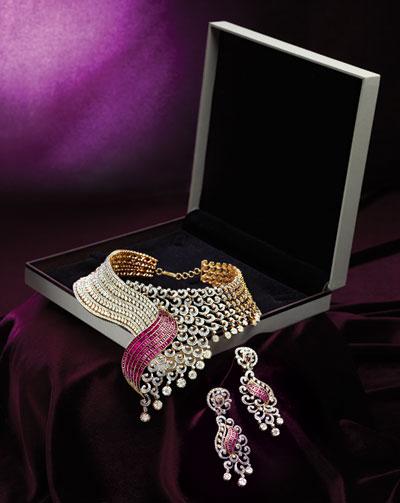 Diamond Necklace by TBZ Jewellery Designs