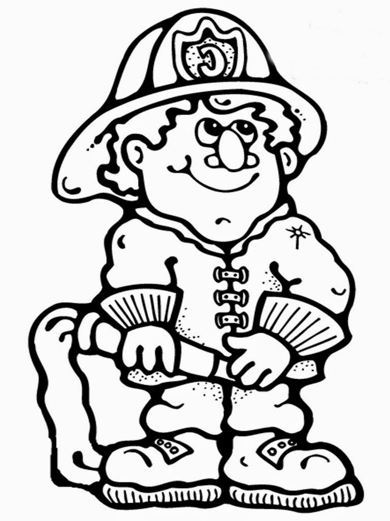 Firefighter Coloring Pages To Print Realistic Coloring Pages