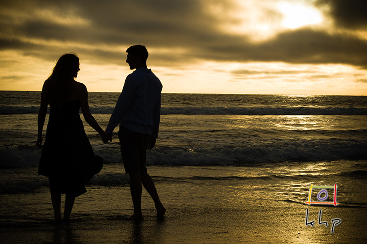 A Naturally Backlit Engagement Session in Venice Beach, CA