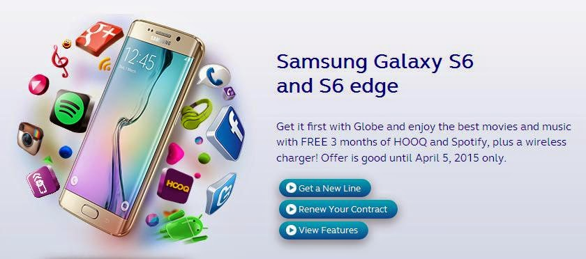 Globe Opens Pre-Order for Samsung Galaxy S6 and S6 Edge