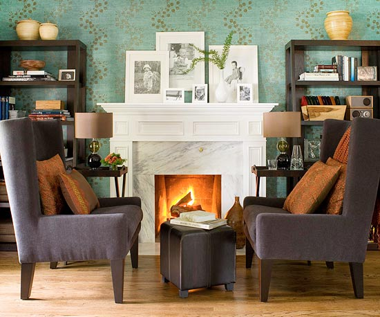 Theme Design: 11 Living room fireplace design ideas