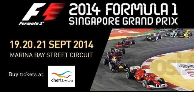 Paket Tiket Formula One Singapore 2014
