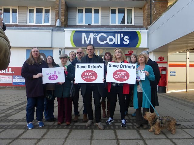Protest to save Orton's post office