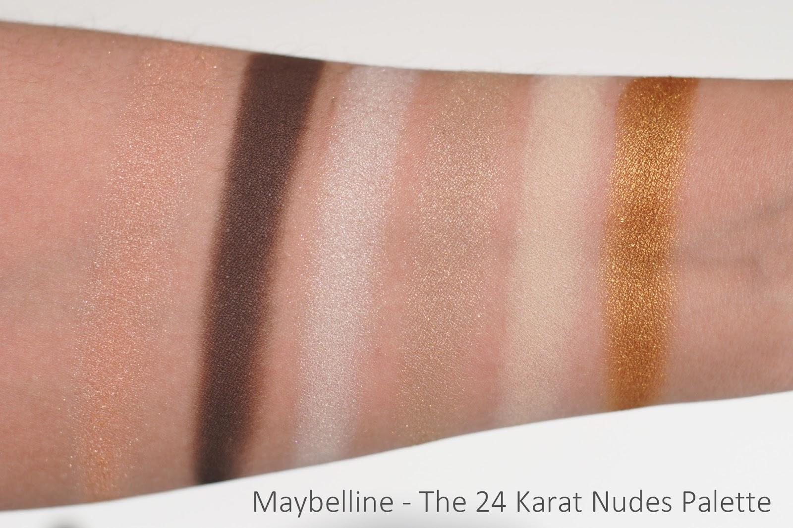 Maybelline 24 Karat Nudes swatches