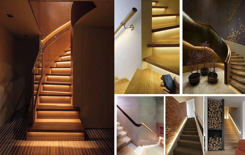 Lighting Basement Washroom Stairs: LED Stairs Lighting Ideas For Modern And Contemporary