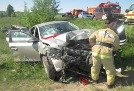 (ФОТО)Пожарно-спасательное подразделение участвовало в ликвидации последствий ДТП